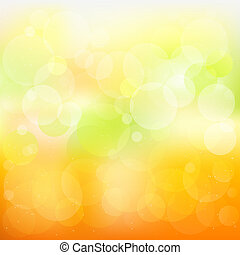 orange, résumé, vecteur, fond, jaune