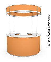 orange, stand, commercer