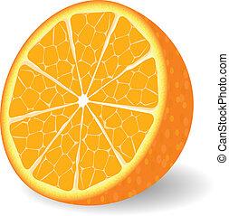 orange, vecteur, fruit