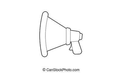 orateur, icône, animation