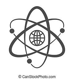 orbits., globe