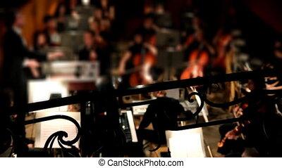 orchestre, théâtre, vue