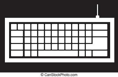 ordinateur clavier, silhouette
