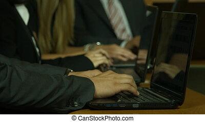 ordinateur portable, business, gens fonctionnement