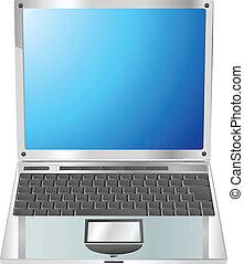 ordinateur portable, directement, illustration