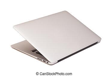 ordinateur portable, isolé, blanc