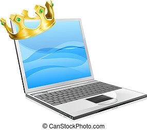 ordinateur portable, roi