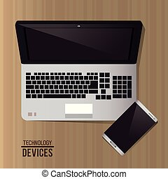 ordinateur portable, smartphone