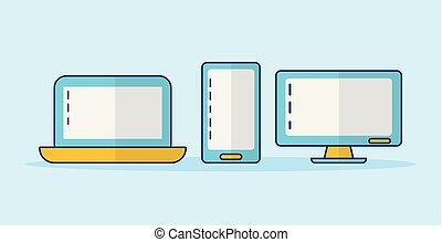 ordinateur portable, smartphone, informatique