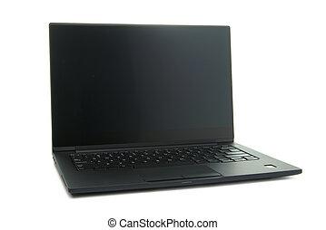 ordinateur portatif, noir