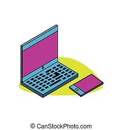 ordinateur portatif, smartphone