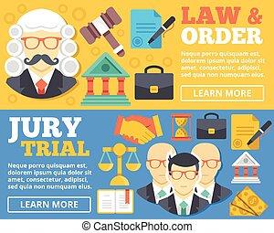 ordre, concept, jury, &, procès, droit & loi