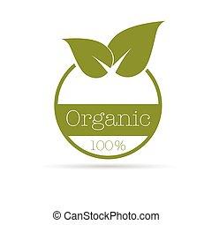 organique, couleur, symbole, illustration, vecteur, vert