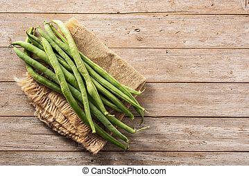 organique, haricots verts