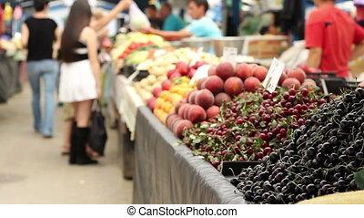 organique, marché, fruits