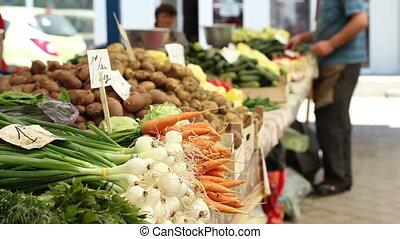 organique, marché, nourriture