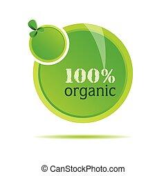 organique, vecteur, vert, illustration, nature