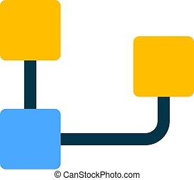 organisation, diagramme, inversé