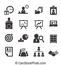 organisation, gestion, ensemble, business, icône