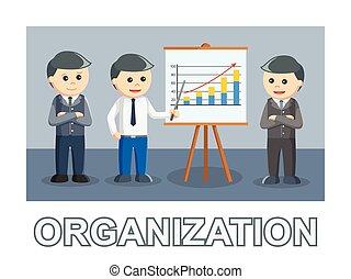 organisation, trois, texte, style, photo, homme affaires