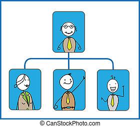 organisation, vecteur, diagramme