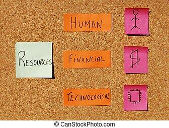 organisationnel, concept, ressources