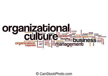 organisationnel, culture, concept, mot, nuage