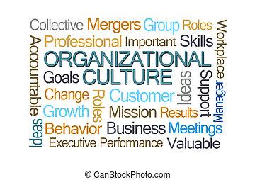 organisationnel, culture, mot, nuage