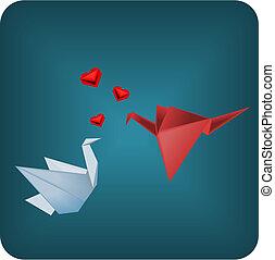 origami, aimer oiseaux