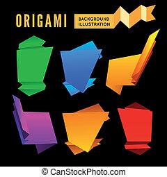 origami, ensemble