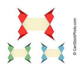 origami, style, étiquette