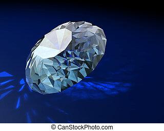 ornement, brilliants, magnifique, cadeau, diamants