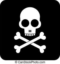 os croisés, -, crâne, icône