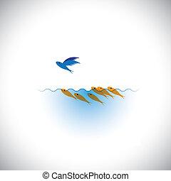 oser, différent, être, -, direction, prendre, vecteur, concep, risque