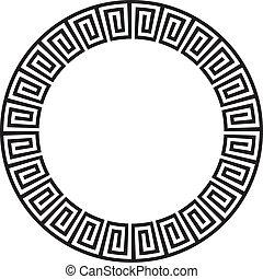 ou, circulaire, aztèque, goemetric, ancien