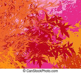 ou, coloré, différent, graphiques, -, edited, ainsi, couches, vecteur, feuillage, séparé, être, boîte, individually, ils, déplacé, illustration, facilement, paysage, pop