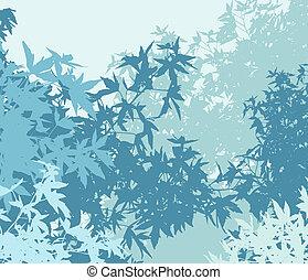 ou, coloré, différent, graphiques, -, edited, brume, ainsi, couches, vecteur, feuillage, séparé, être, boîte, individually, ils, déplacé, froid, illustration, facilement, paysage