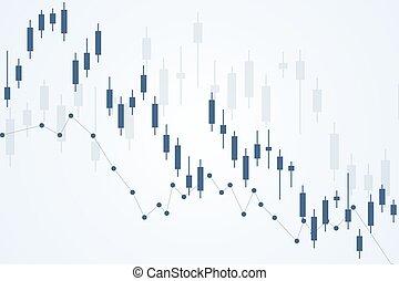 ou, diagramme, forex, commerce, financier, vecteur, arrière-plan., illustration, finance, résumé, graph., marché, stockage