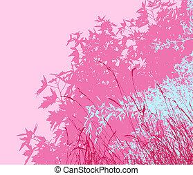 ou, différent, graphiques, -, edited, ainsi, coloré, couches, vecteur, feuillage, séparé, être, boîte, individually, ils, déplacé, matin, illustration, facilement, paysage, rose