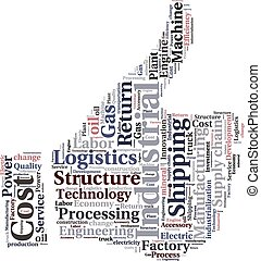 ou, nuage, texte, industriel, logistique, conceptuel, tagcloud, mot