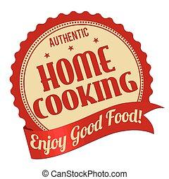 ou, timbre, étiquette, cuisine, maison