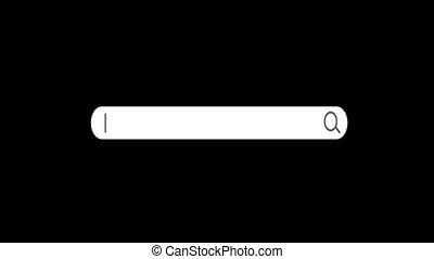 ou, vide, au-dessous, ton, recherche, pleinement, boîte, recherche, unique, endroit, canal, barre, texte, base données, ligne, navigateur, animé, transparent, alpha, fond, toile