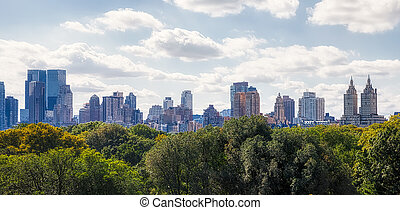 ouest, panorama, côté, nouveau, manhattan, york