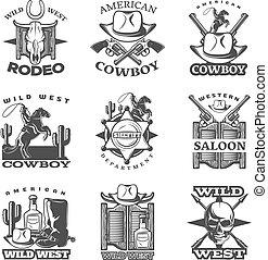ouest sauvage, ensemble, emblème