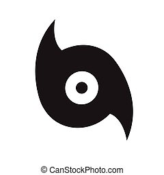 ouragan, conception, illustration, icône