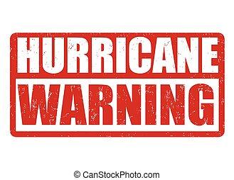 ouragan, ou, signe, timbre, avertissement