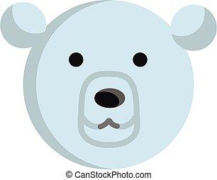 ours blanc, vecteur, illustration, fond, blanc