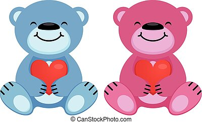 ours peluche, coeur