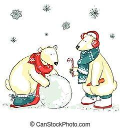 ours, rigolote, polaire