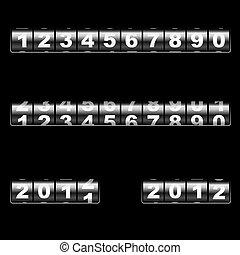 out-dated, gabarit, year., éditer, universel, compteur, deux, numbers., –, vecteur, combiner, exemples, facile, année, usage, changer, mécanique, 2011, n'importe quel, 2012